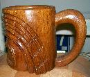 Philippine Tiki Mug: Hand-carved Wood