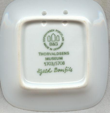 Bing & Grondahl Square Mini Plate- Thorvaldsen's Museum
