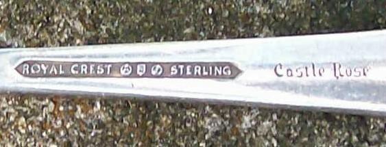 Royal Crest Sterling Silver Castle Rose Baby/Child's Fork Ca. 1942