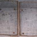 Steel Wire-ware Office Letter Basket Pair Late 1800's
