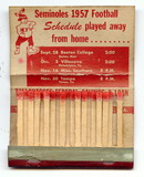 Florida Seminoles 1957 Football Schedule Match Book
