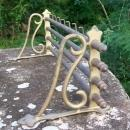 Wall-mount Brass Rack: Victorian-style Railroad  Train