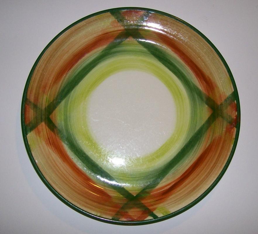 Metlox Vernonware Tam O'Shanter Ceramic Plate 9.75