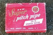 William Kratt Pitch Pipe with Box SN-10 Spanish Guitar 1940s-50s Tuning Instrument