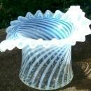 Fenton French Opalescent Glass Spiral Optic Hat Vase