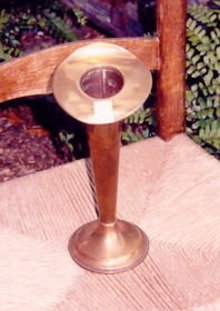 Brass Vase: Jack-in-the-Pulpit by Friedman of New York