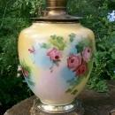 Victorian Vase Lamp: Center Draft Oil: No Shade