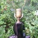 Black Ceramic Horse Lamp Ca. 1950's Mid-Century Modern