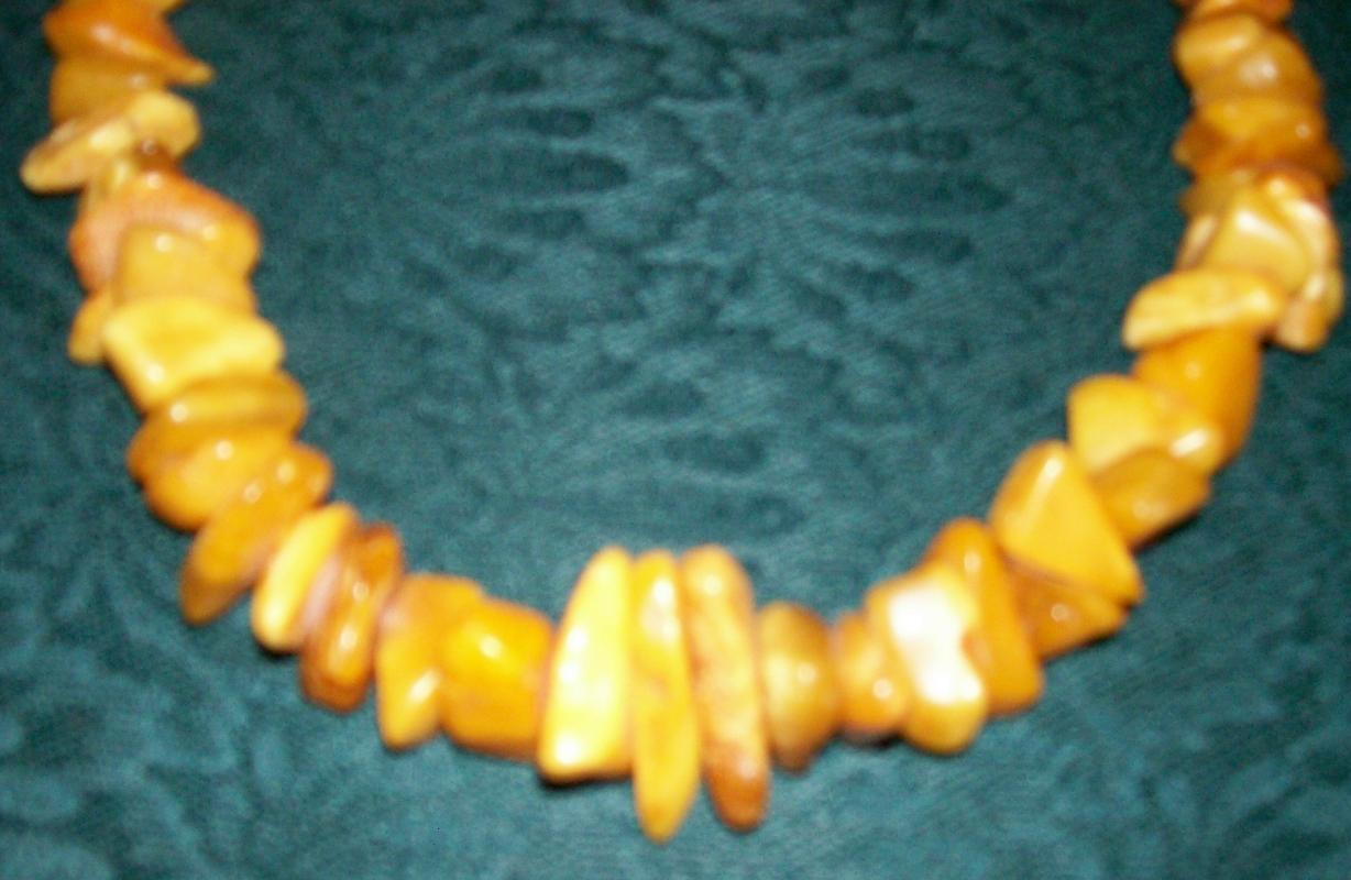 Baltic Amber Necklace Natural Nugget 24