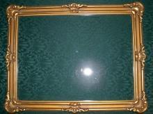 Gilt Wood Picture Frame with Original Float Glass Ca. 1900