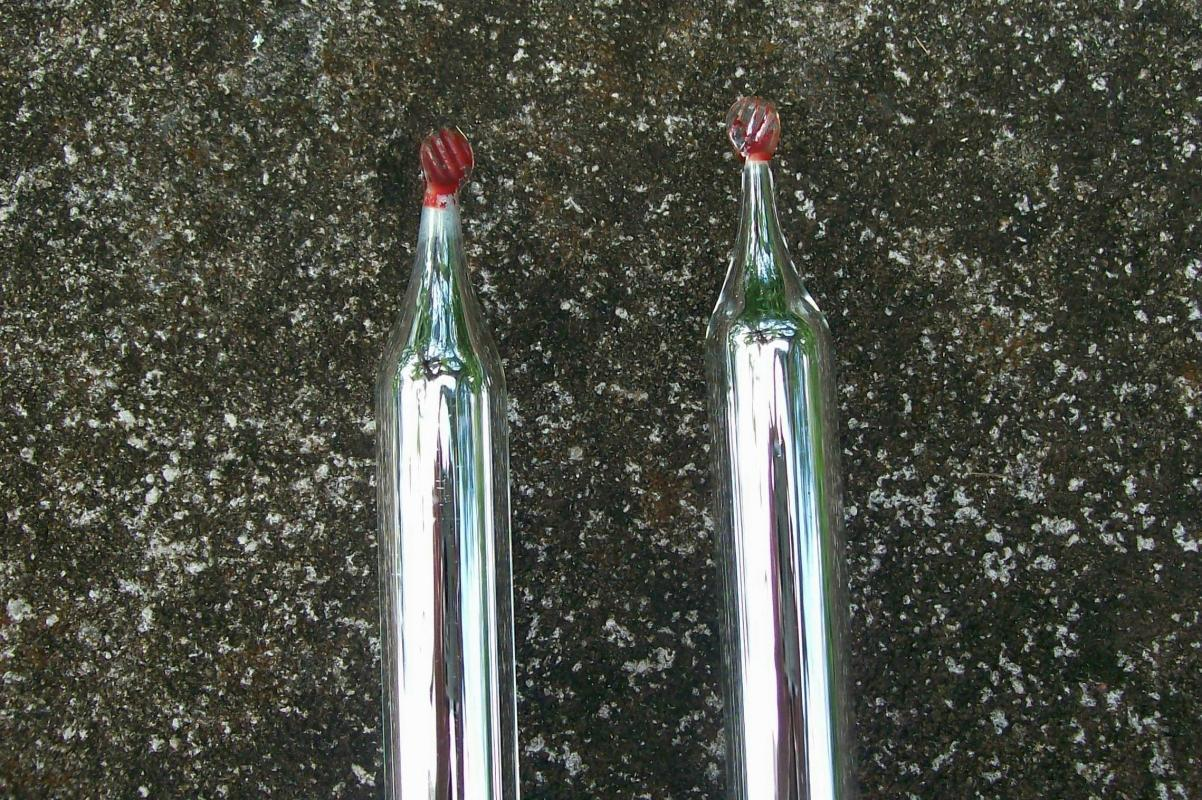 Mercury Glass Christmas Candle Pair 14