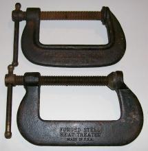 C-Clamp Pair: Cincinnati Tool Co. No.54 & 548