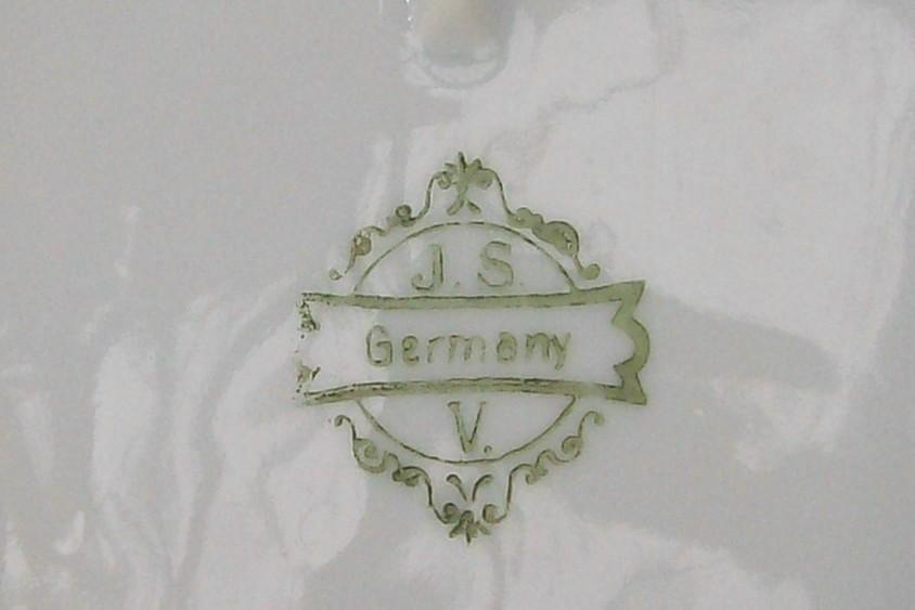 JSV Germany Porcelain Celery Dish Johann Seltmann Bavaria 1900-10 Roses