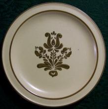 Pfaltzgraff Stoneware Village Salad Plate Set of 6 Brown & Tan 7 1/8