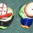 Seated Dutch Boy & Girl Ceramic Salt & Pepper Shakers 1930's-40's