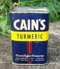 Spice Container: Cain's Turmeric, Circa 1930's