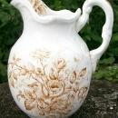 Brown Transfer Pitcher: Late 1800's