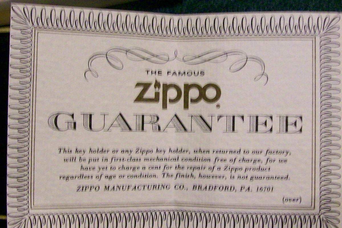 Zippo Advertising Metal Key Ring/Holder Pottstown Pipe Products Penn NIB