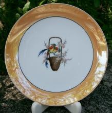 Noritake Art Deco Lusterware Plate with Chinese Pheasants