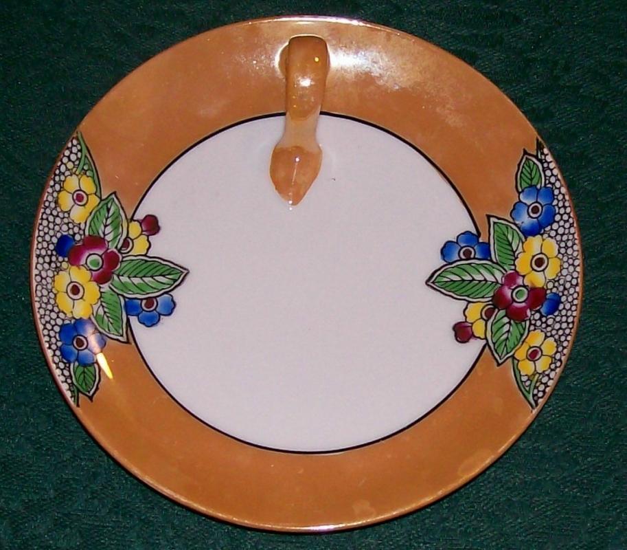 Noritake Art Deco Lusterware Lemon Dish