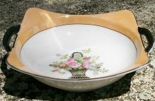 Noritake Art Deco Lusterware Bowl: Two-handle