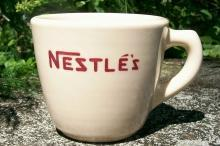 Nestle Cocoa Advertising Mug: Sterling China Restaurant Ware
