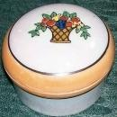Art Deco Luster Ware Ceramic Trinket Box 1920s-30s Japan Fruit Basket