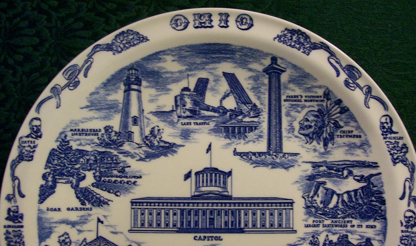 Vernon Ohio Souvenir Plate