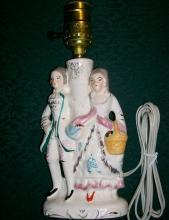 Colonial Couple Figural Lamp