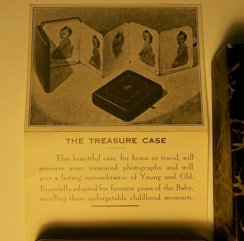 Treasure Case Photo Album w/ Box & Brochure Richards/Boston