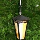 Arts & Crafts Style Lantern Caramel Slag Glass Pull-Chain Rewired 22