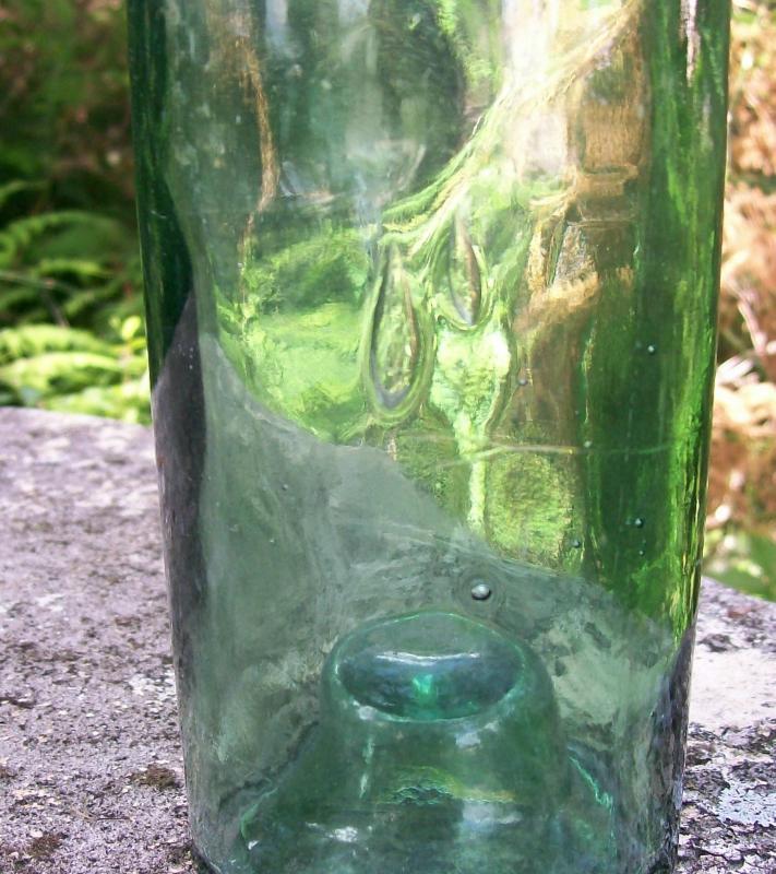 Wine Bottle: Mid-1800's BIMAL Green Glass