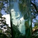 Wine Bottle: Mid-1800's BIMAL Green Glass