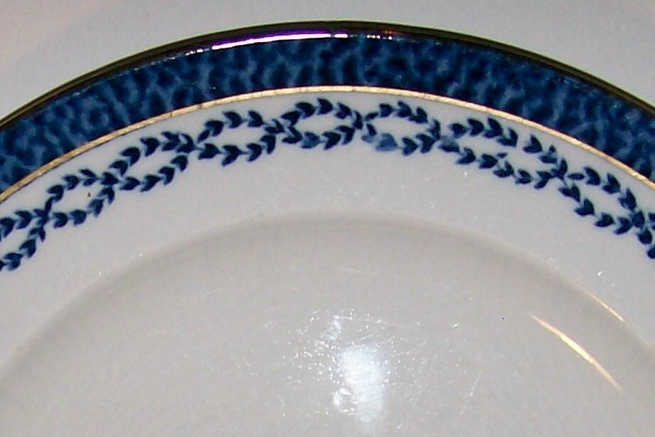 Booth's Silicon China Ceramic Plate Flow Blue Chain Link Border #805_?
