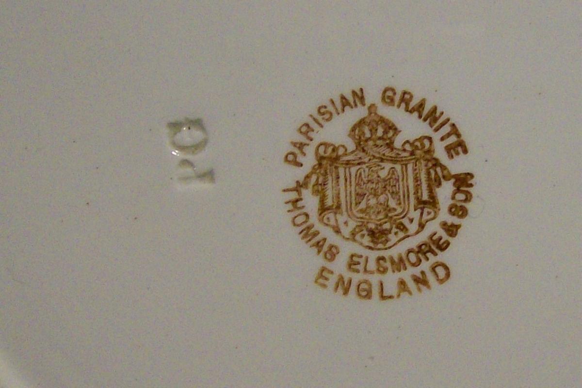 Elsmore Parisian Granite Ceramic Bowl Chinese Pheasants Ca. 1880 8.75