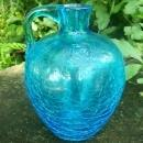 Crackle Glass Jug: 1950's-60's