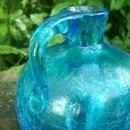Crackle Glass Jug: 1950's-60's