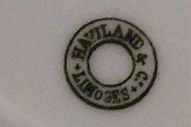 Haviland Limoges Porcelain Fruit Plate Ca. 1880 Plums 8.5