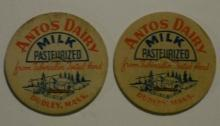 Dairy Milk Caps: Antos Dairy, Dudley, Massachusetts