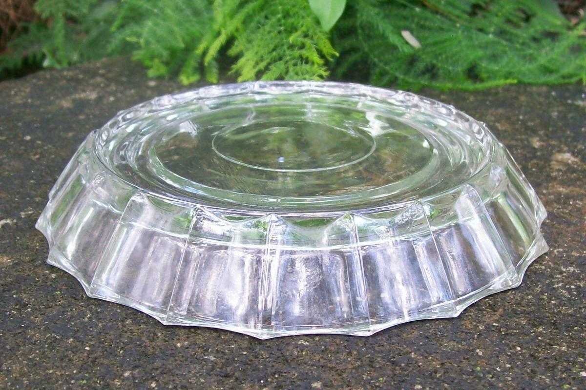 Jeannette Glass Line #100 Clear Punch Bowl Base 1950's