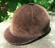 Sport Togs Equestrian/Horse Riding Cap 1950's Brown Velvet