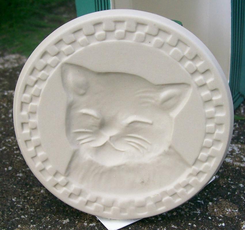 Brown Bag Ceramic Cookie Stamp Cat Nap No. 39 NIB Resin Handle