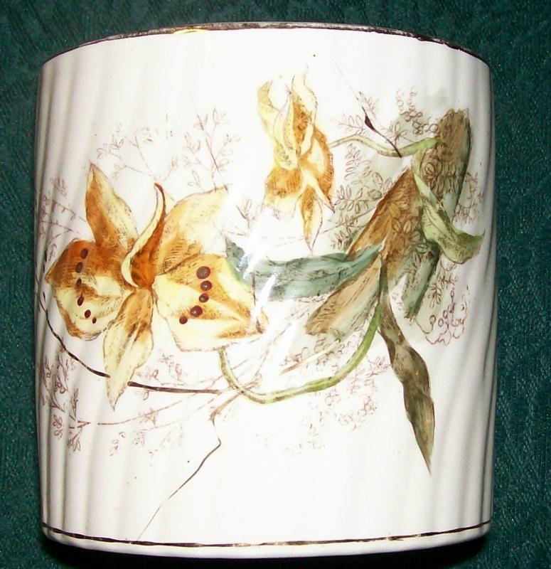 Franz Mehlem Aesthetic Ceramic Jar Ca. 1880 Bonn Germany Floral