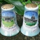 Dragonware Ceramic Salt & Pepper Shakers Souvenir of Washington D.C.