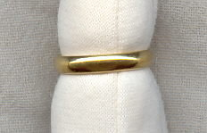 18K+ Gold Wedding Band Ring 3g 1950s Sz 5 1/2