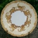 Coalport Porcelain Gold Encrusted Plate: 1880's 9.25