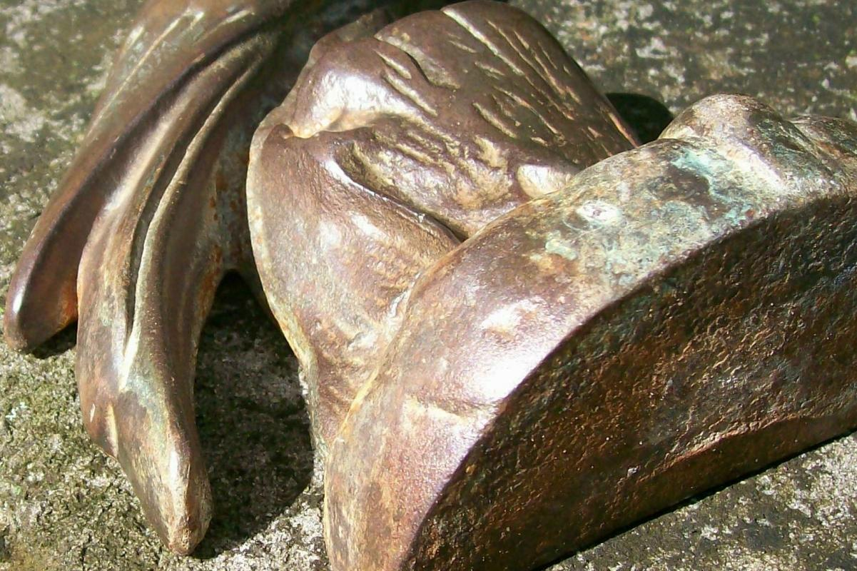Cast Iron Cockatoo Door Stop with Bronze Finish