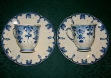 Delfts Blue Demitasse Cups & Saucers