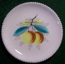 Westmoreland Milk Glass Beaded Edge Plate 7.5
