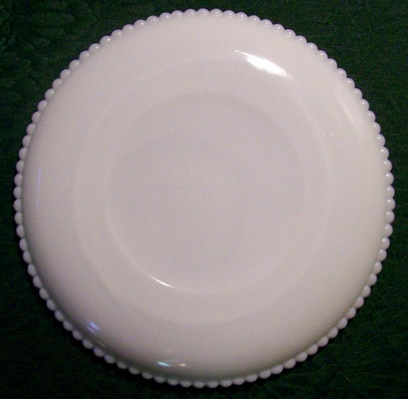 Westmoreland Milk Glass Beaded Edge Plate 7.5